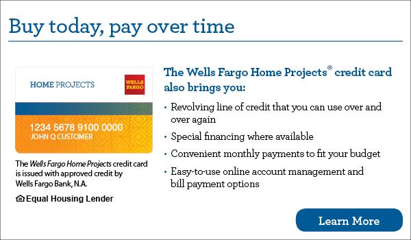 今天购买,以后付款. 你的富国银行家庭项目信用卡也给你带来了循环信用额度,你可以反复使用, 特别融资(如有), 方便的每月付款,以适合您的预算, 易于使用的在线帐户管理和账单支付选项. 富国银行家庭计划信用卡是由富国银行批准的信贷发行的.A. 平等的住房贷款. 了解更多.