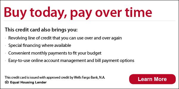 Wells fargo financing details