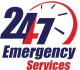 24/7 emergency service logo